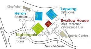 Kents Hill Park conference centre layout