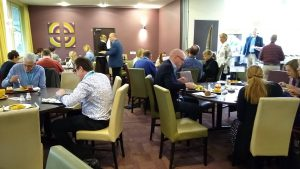 Lunch in the dining room at BAPT2019